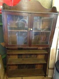 Glass-fronted bookcase