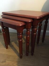 Nest of three tables - ducal pine - collect only