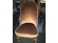 Gorgeous Newly Upholstered Antique Bedroom Chair Nursing Chair
