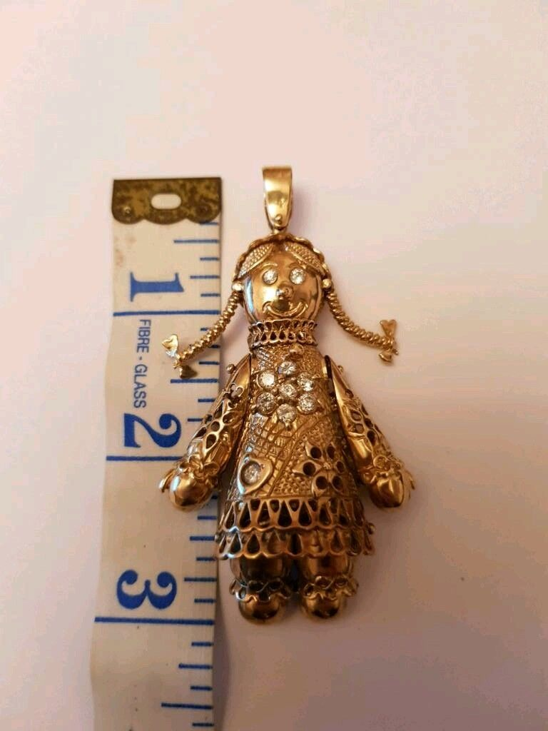 Solid 9ct gold rag doll pendant in retford nottinghamshire solid 9ct gold rag doll pendant image 1 of 4 mozeypictures Images