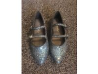 Glitter blue party shoes size 1