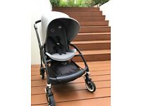 Bugaboo Bee 3 | Black base and Grey Melange Seat and Sun Canopy | £395