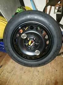 1 new r16 5 stud saab tem space saver wheel / tyre