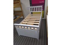 Solid Pine, All white, captains Bergamo style Guest bed, with storage drawers. £249!