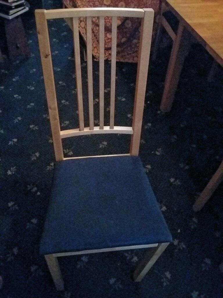 Ikea Stornas extendable table & 6 Borje dining chairs