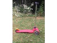Mini micro original pink scooter