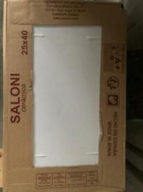 Saloni white gloss tiles