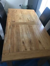 Real oak dining table