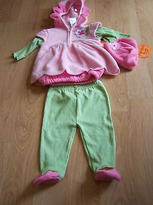 Size 3-6 Months Baby Grand Daisy Pink Flower Halloween Costume New Footed Pants ](Size 3-6 Month Halloween Costumes)