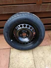 Spare wheel vauxhall insigni