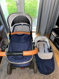Mothercare Journey edit pram and pushchair