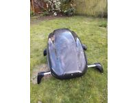 roof rack and roof box, roof rack lockable for a Vauxhall Astra 2014 models roof box 340ltr