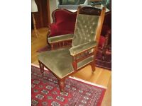 Antique Edwardian Gentleman's Button Back Armchair