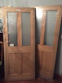 Oak veneer internal doors x2