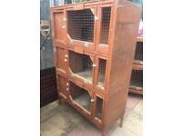 Triple rabbit hutch for sale
