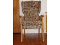 Floral Wingback Armchair