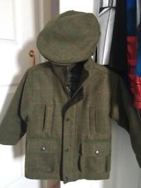 Boys tweed jacket & cap