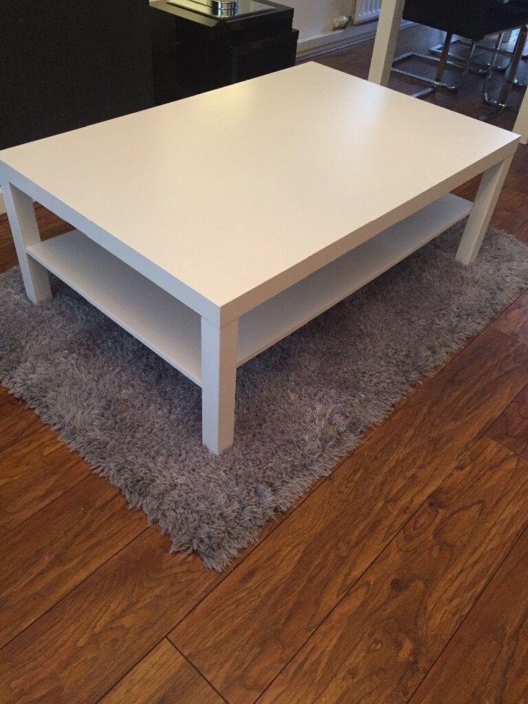 white ikea coffee table. length: 118 cm width: 78 cm height: 45 cm