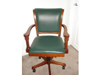 Hardwood and leather Office Chair