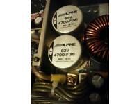 Rare ALPINE 1507 Old school 2 channel car amp
