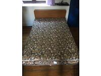Folding bed/ z bed double. Original British made study metal frame and mattress.