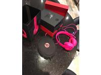Beats Solo 2 pink-boxed mint condition