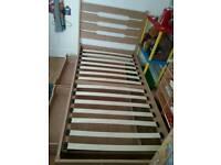 Child's storage wooden bed frame