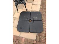 Base unit weight for Parasol or umbrella.
