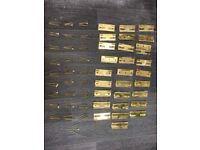 62 Brass Sash Window Slotted Hinges with screws