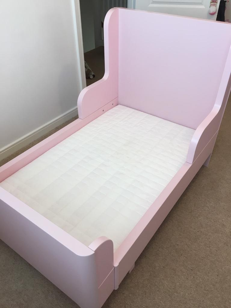 **Girl's Pink - IKEA 'BURSUNGE' Extendable Bed, WITH ...