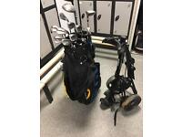 Golf clubs Taylormade bag and trolley