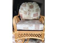 Wicker chairs and 2 seater chair