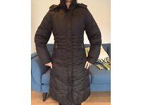 Full Length Small Black Feather & Down Winter Trespass Coat