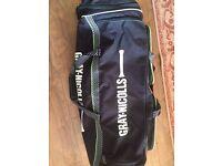 Gray Nicholls Cricket Kit bag and Slazenger cricket equipment -- GOOD CONDITION