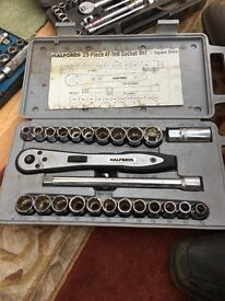 Halford 25 piece AF/MM Socket Set