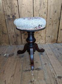 Heavy, solid Mahogany Victorian antique piano stool in top condition UK delivery Brighton gplanera