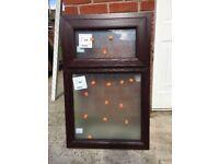 NEW pvc window rosewood
