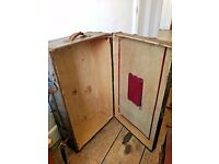 Antique Victorian Travellers Steamer Military Trunk Chest Suitcase