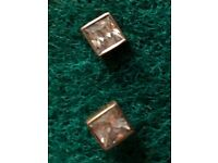 4 pairs sterling silver studs