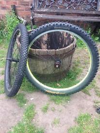 "Pair Of 26"" Chunky Mountain bike Wheels"