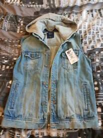 Mens Bershka Denim Waistcoat - Size M - Brand new