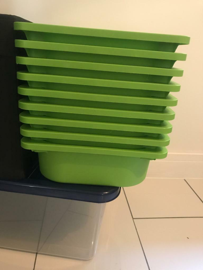 9x green ikea storage trays | in Bridgend | Gumtree