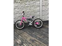 Girls Pink And Black BMX Bike