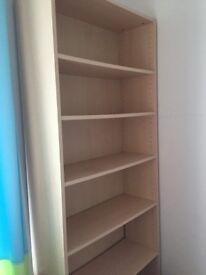 Beech coloured bookshelf