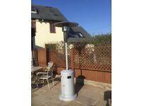 Gas fired garden patio heater