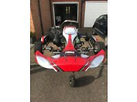 Octane go kart with senior rotax engine