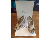 Dior heels with dust bag.