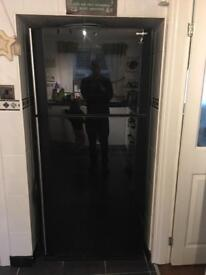 Sharp large sharp plasmacluster glass fridge freezer