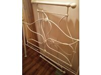 Cream Iron Double bed frame