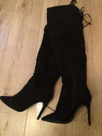 Thigh over the knee boots size 5